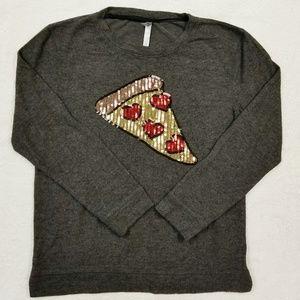 Xhilaration Pizza Sequin Sweatshirt - So Soft!